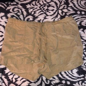The loft draw string high waisted cargo shorts